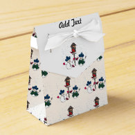 Christmas Snowmen With Cowboy Hats Party Favor Boxes