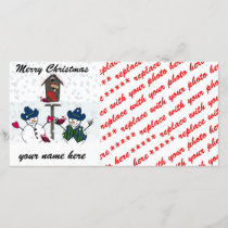 Christmas Snowmen with Cowboy Hats Holiday Card