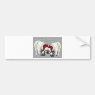 Christmas Snuggling Polar Bears Bumper Sticker