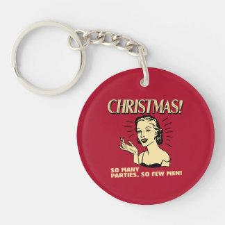 Christmas: So Many Parties, So Few Men Keychain