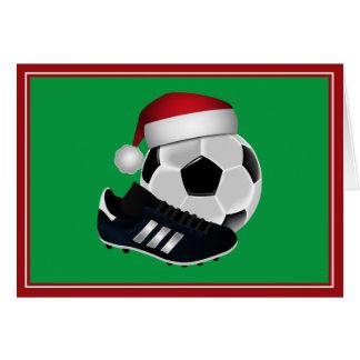 Christmas Soccer Ball and Shoe Card