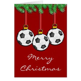 Christmas Soccer Card
