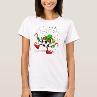 Christmas Soccer Elf Women's Value Tee