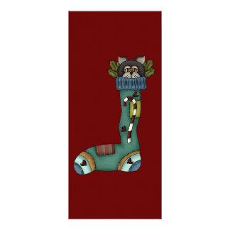 Christmas Sock Cat Custom Rack Cards