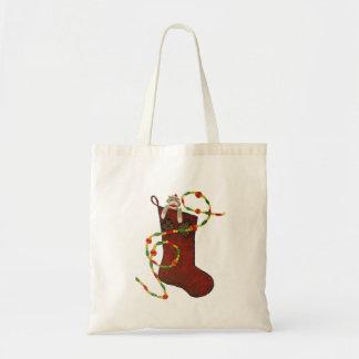 Christmas Sock Monkey Bag