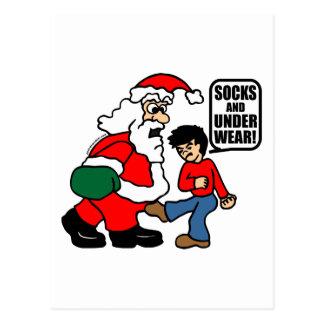 CHRISTMAS SOCKS AND UNDERWEAR POSTCARDS