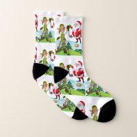 Christmas Socks, Santa Golf Socks