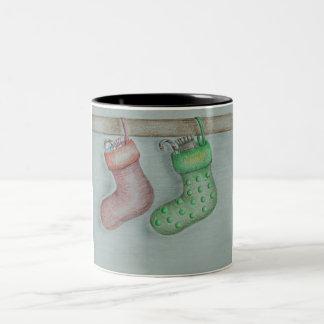 Christmas Socks Two-Tone Coffee Mug