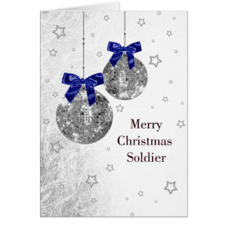 Christmas - Soldier - Military - USA Greeting Card