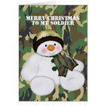 Christmas Soldier Snowman Cards