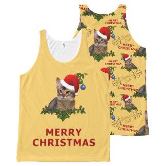 Christmas Somali Cat Santa All-Over-Print Tank Top