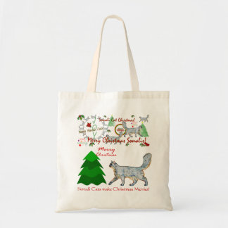Christmas Somali Cats Tote
