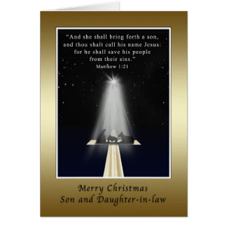 Christmas,  Son and Daughter-in-law, Religious Card