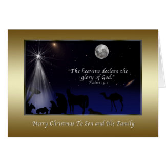 Christmas, Son and Family, Religious, Nativity Card