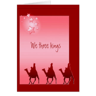 Christmas, Song, Hymn We Three Kings, Card
