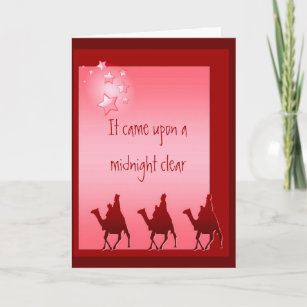 christmas song hymn wise men star holiday card