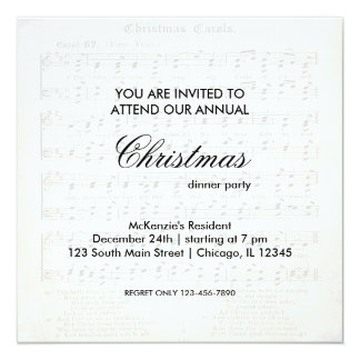Christmas Song Invitations