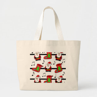 Christmas song large tote bag