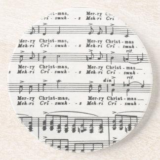 Christmas Song Sheet Music Coasters