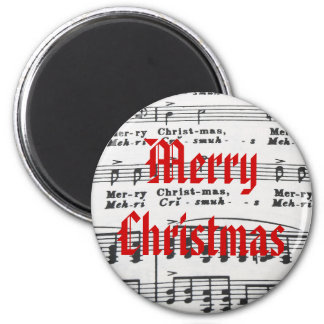 Christmas Song Sheet Music Refrigerator Magnets