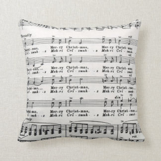 Christmas Song Sheet Music Throw Pillows