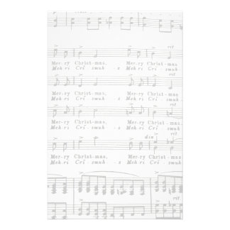 Christmas Song Sheet Music Stationery