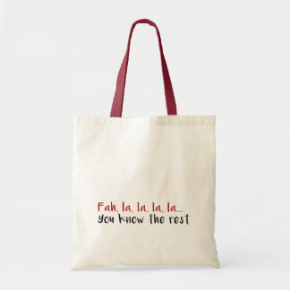 Christmas Song Tote Bag
