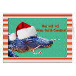 Christmas, South Carolina, Alligator Greeting Card