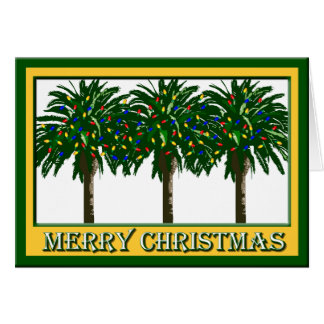 Christmas Southern Palm Tree Greeting Card