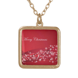 Christmas Sparkles 4 Gold Plated Necklace