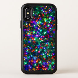 Christmas Sparkling Stars OtterBox Symmetry iPhone X Case