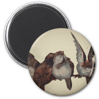 Christmas Sparrows Magnet