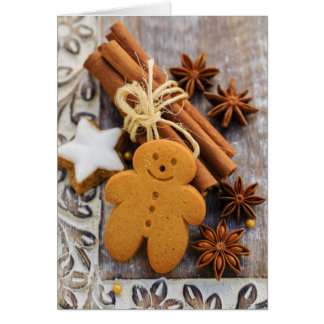 Christmas Spices, Ginger And Anise Stars Card