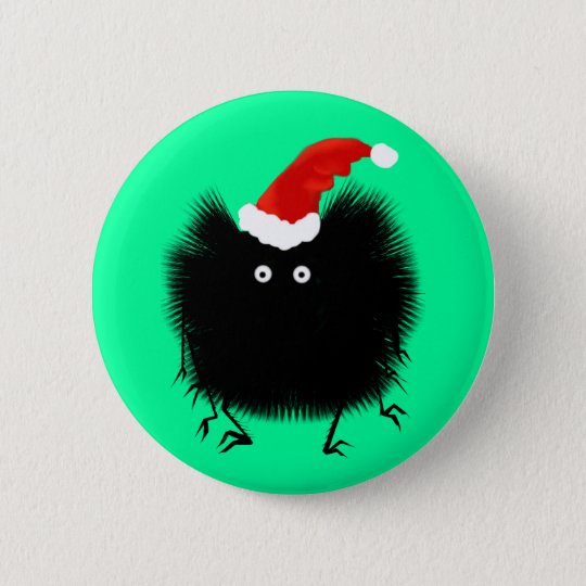 Christmas Spider Button