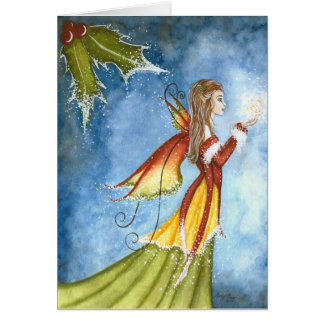 Christmas Spirit Fairy Greeting Card