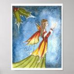 Christmas Spirit Fairy Poster Print