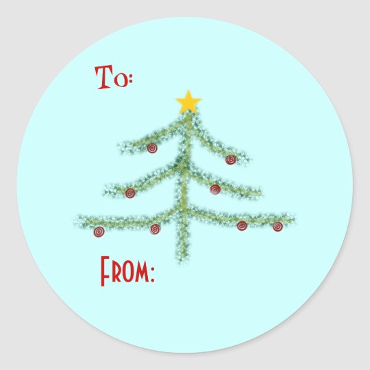 Christmas Spirit Gift Tag Stickers