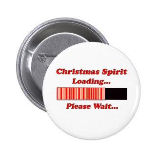 Christmas Spirit Loading Pinback Button
