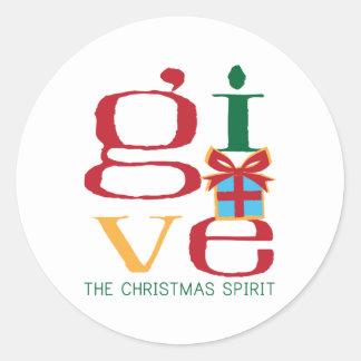 Christmas Spirit Classic Round Sticker