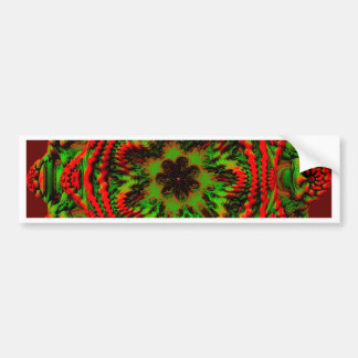 Christmas Spirit with Green and Maroon Gifts Car Bumper Sticker