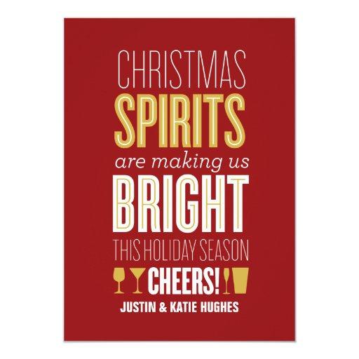 Christmas Spirits Holiday Card