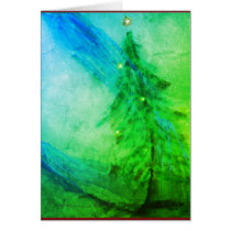Christmas Splendor Christmas tree greeting card