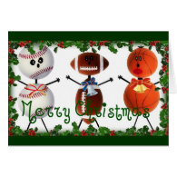 Christmas Sports Fan Greeting Cards