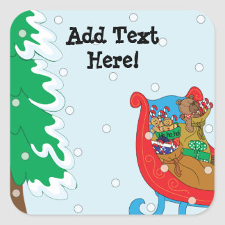 Christmas Square Stickers. Personalize. Square Sticker