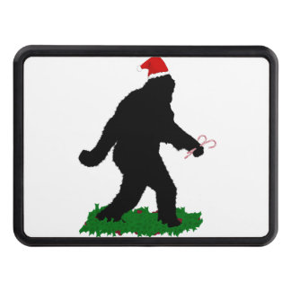 Christmas Squatch - Squatchin' with Candy Canes Trailer Hitch Cover
