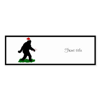 Christmas Squatchin Business Card Template