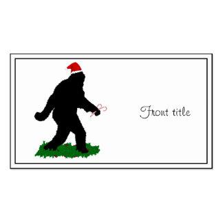 Christmas Squatchin Business Card Templates