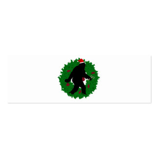 Christmas Squatchin Business Cards