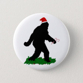 Christmas Squatchin' Button