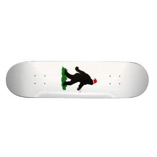 Christmas Squatchin' Custom Skate Board